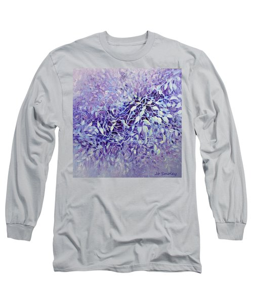 Long Sleeve T-Shirt featuring the painting The Healing Power Of Amethyst by Joanne Smoley