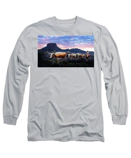 Texas Longhorns Blue Long Sleeve T-Shirt
