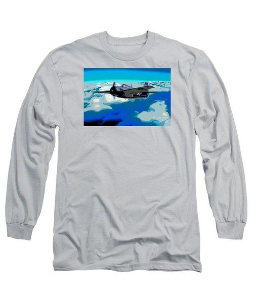 The High Flight Of A Grumman F4f Wildcat Long Sleeve T-Shirt