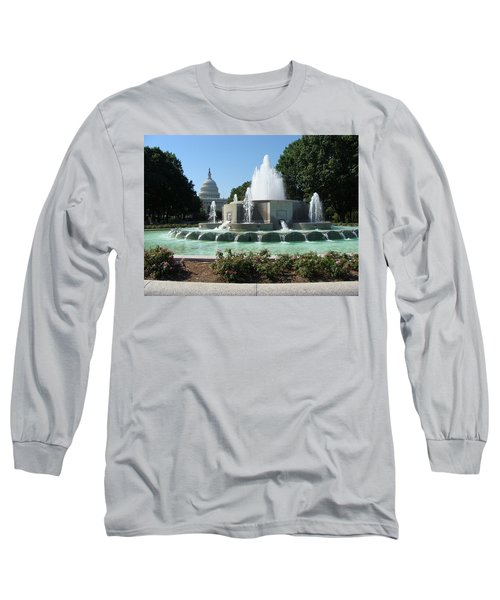Long Sleeve T-Shirt featuring the painting The House Of Democracy by Rod Jellison