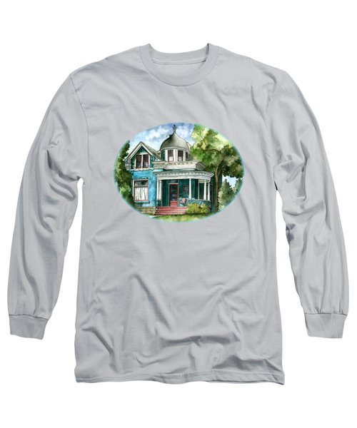 The House With Red Trim Long Sleeve T-Shirt