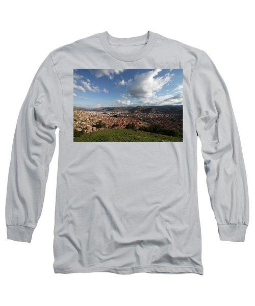 The Inca Capital Of Cusco Long Sleeve T-Shirt by Aidan Moran