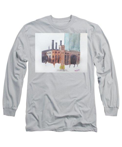 The Jersey City Powerhouse Long Sleeve T-Shirt by Keshava Shukla