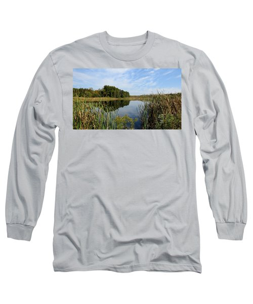 Long Sleeve T-Shirt featuring the photograph The Lake At Cadiz Springs by Kimberly Mackowski