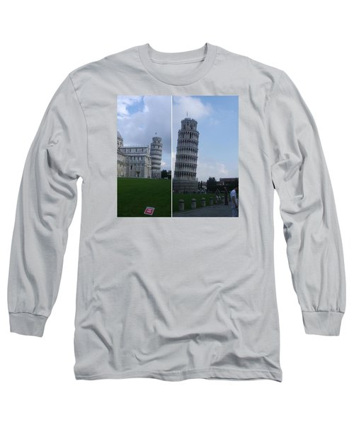 The Leaning Tower Of Pisa Long Sleeve T-Shirt by Patsy Jawo