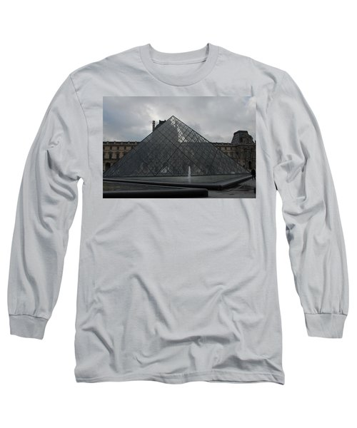 Long Sleeve T-Shirt featuring the photograph The Louvre And I.m. Pei by Christopher Kirby