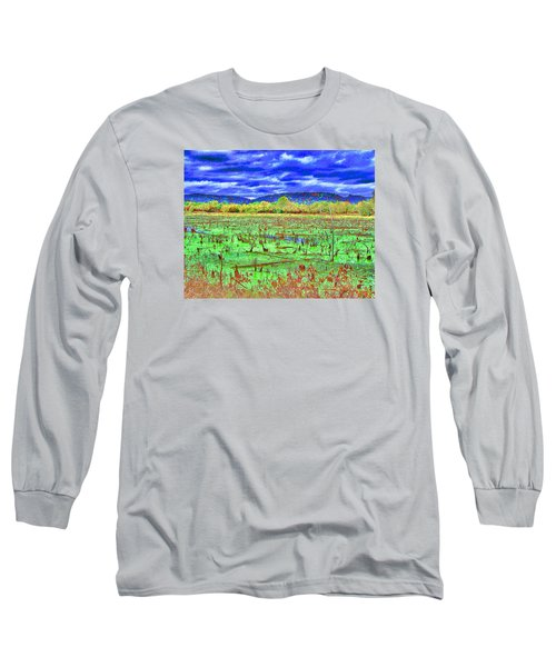Long Sleeve T-Shirt featuring the photograph The Marshlands by B Wayne Mullins