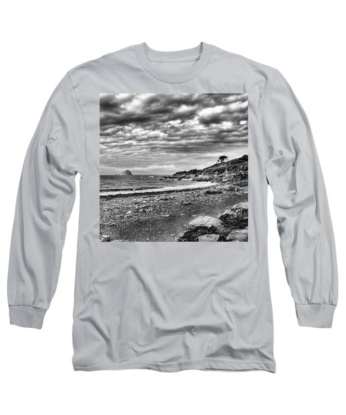 The Mewstone, Wembury Bay, Devon #view Long Sleeve T-Shirt by John Edwards