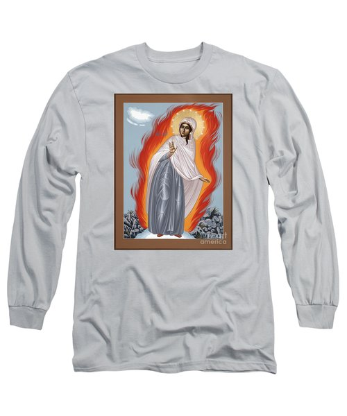 Long Sleeve T-Shirt featuring the painting The Mother Of God Of Medjugorgie 084 by William Hart McNichols