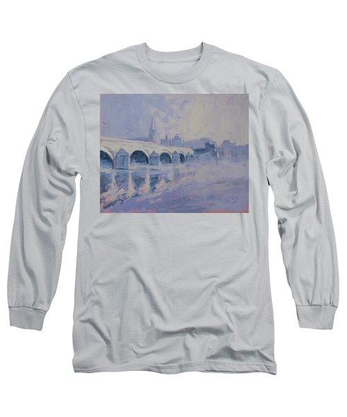 The Old Bridge In Morning Fog Maastricht Long Sleeve T-Shirt