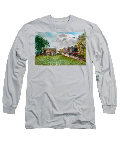 The Old Forsaken Shack Long Sleeve T-Shirt by Carole Robins