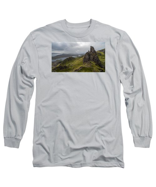 The Old Man Of Storr, Isle Of Skye, Uk Long Sleeve T-Shirt by Dubi Roman