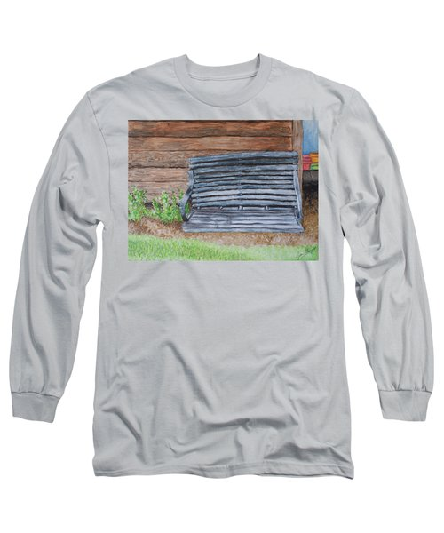 The Old Porch Swing Long Sleeve T-Shirt by Jean Haynes