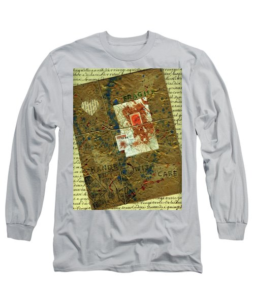 Long Sleeve T-Shirt featuring the mixed media The Package by P J Lewis