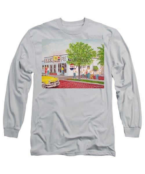 The Park Shoppe Portsmouth Ohio Long Sleeve T-Shirt by Frank Hunter