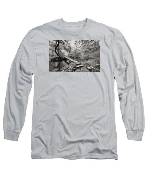 The Path To Nirvana Long Sleeve T-Shirt by Mario Carini