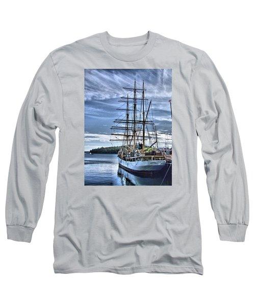The Picton Castle Docked In Lunenburg Long Sleeve T-Shirt
