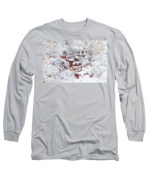 The Poetic Beauty Of Freshly Fallen Snow  Long Sleeve T-Shirt by Bijan Pirnia