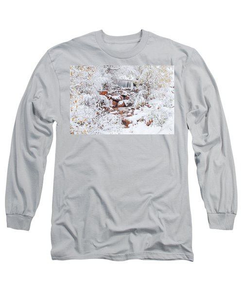 The Poetic Beauty Of Freshly Fallen Snow  Long Sleeve T-Shirt