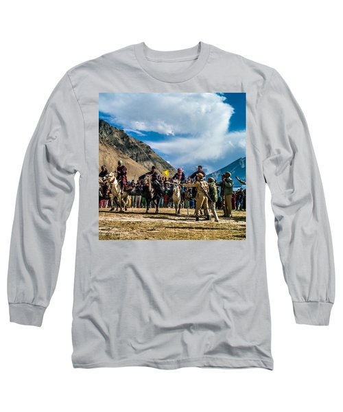 The Race, Zanskar, India Long Sleeve T-Shirt