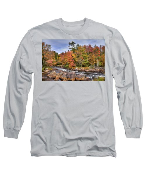 Long Sleeve T-Shirt featuring the photograph The Rapids On The Moose River by David Patterson