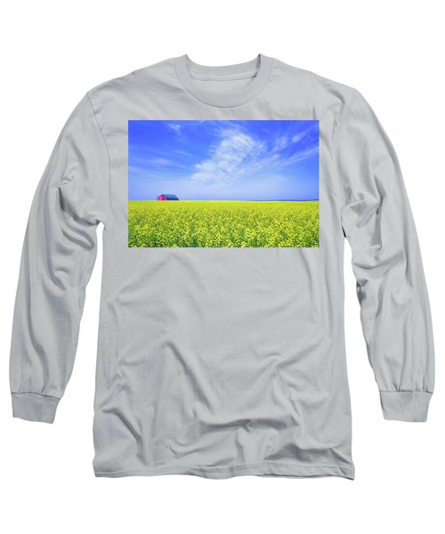 Long Sleeve T-Shirt featuring the photograph The Red Barn by Keith Armstrong