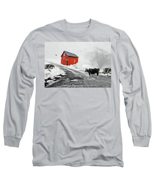 The Red Red Barn Long Sleeve T-Shirt