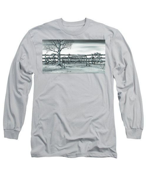 Long Sleeve T-Shirt featuring the painting The Rematch by Kenneth Clarke