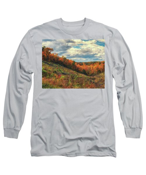 The Ridges Of Southern Ohio In Fall Long Sleeve T-Shirt