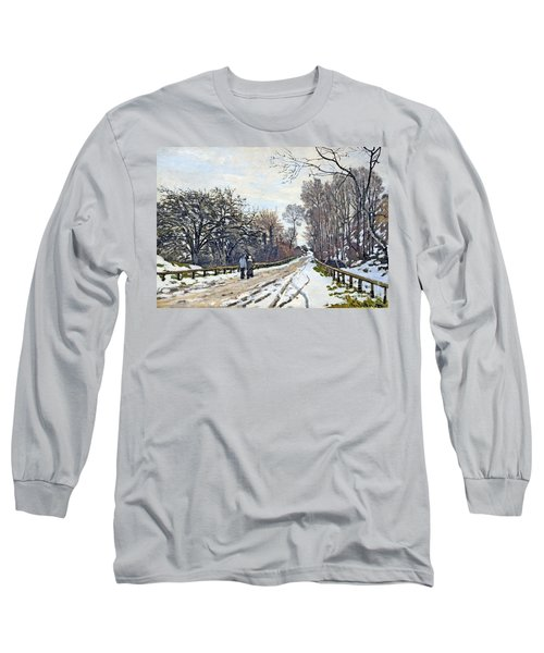 The Road To The Farm Of St. Simeon Long Sleeve T-Shirt by Monet