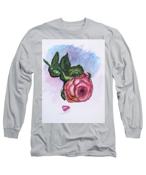 The Rose Long Sleeve T-Shirt by Clyde J Kell