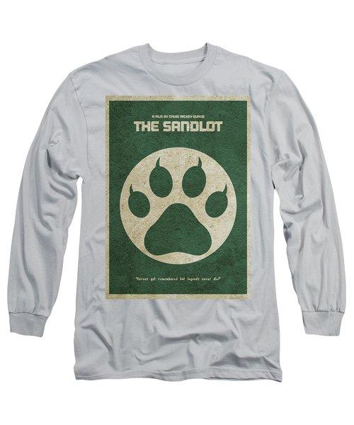 The Sandlot Alternative Minimalist Movie Poster Long Sleeve T-Shirt by Ayse Deniz