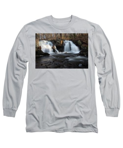 The Secret Waterfall In Golden Light Long Sleeve T-Shirt