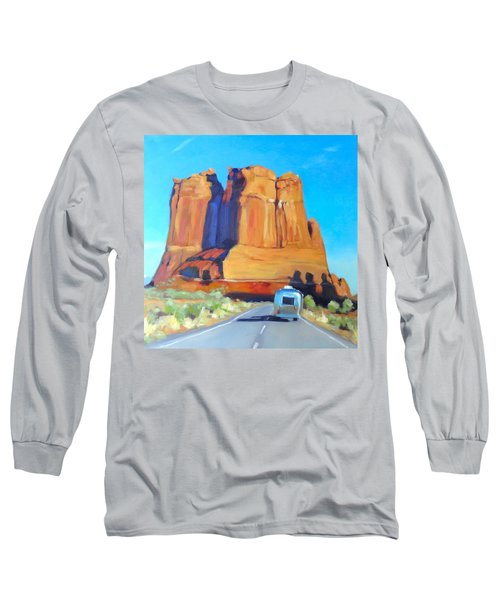 The Shadow Of The Three Gossips Arches Utah Long Sleeve T-Shirt