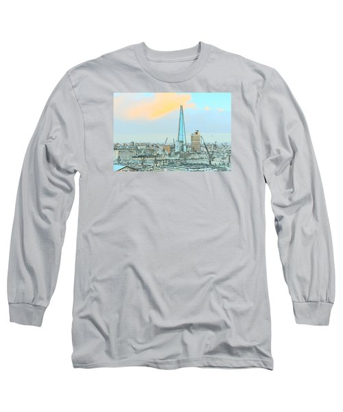 The Shard Outline Poster Long Sleeve T-Shirt