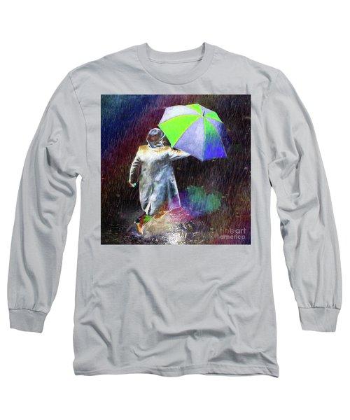 The Sheer Joy Of Puddles Long Sleeve T-Shirt