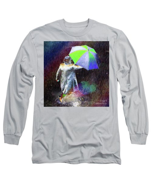 Long Sleeve T-Shirt featuring the photograph The Sheer Joy Of Puddles by LemonArt Photography
