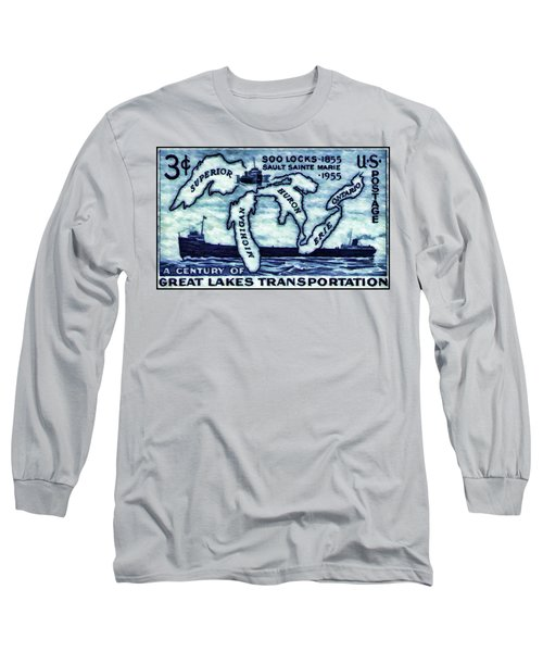 The Soo Locks Stamp Long Sleeve T-Shirt
