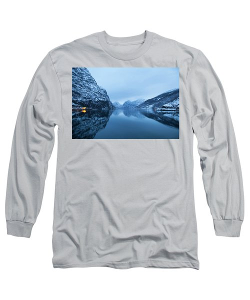 Long Sleeve T-Shirt featuring the photograph The Stillness Of The Sea by David Chandler
