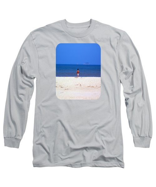 Long Sleeve T-Shirt featuring the photograph The Swimmer by Ethna Gillespie