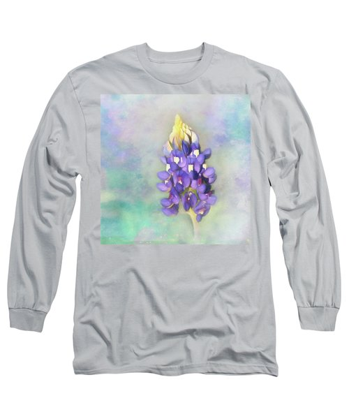 Long Sleeve T-Shirt featuring the photograph The Texas State Flower The Bluebonnet by David and Carol Kelly