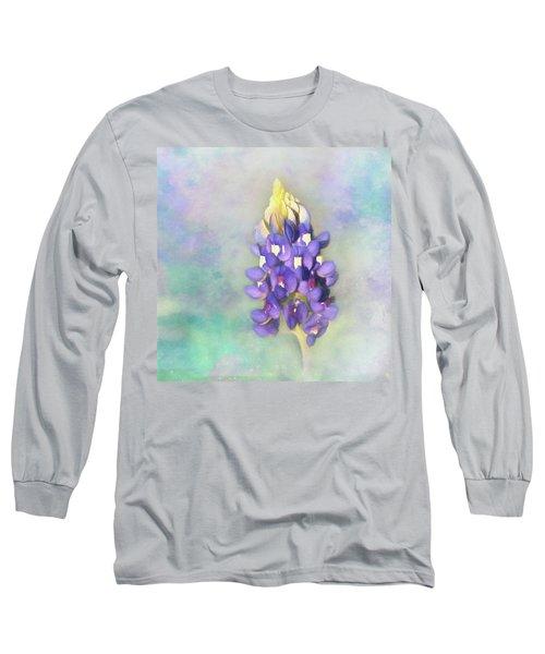 The Texas State Flower The Bluebonnet Long Sleeve T-Shirt