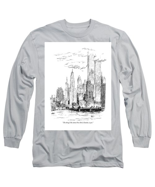 The Thing I Like About New York Long Sleeve T-Shirt