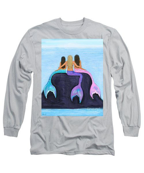 Long Sleeve T-Shirt featuring the painting The Three Beauties by Leslie Allen