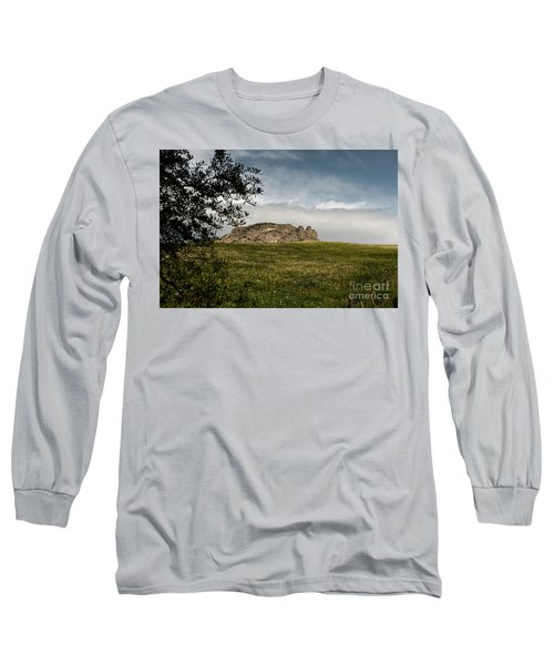 Long Sleeve T-Shirt featuring the photograph The Three Fingers by Bruno Spagnolo