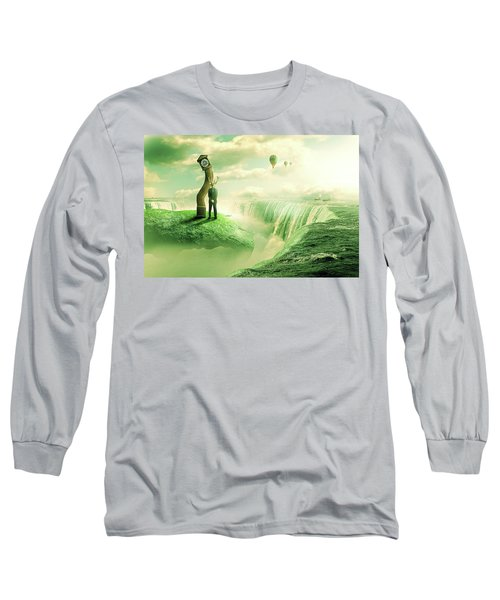 The Time Keeper Long Sleeve T-Shirt by Nathan Wright