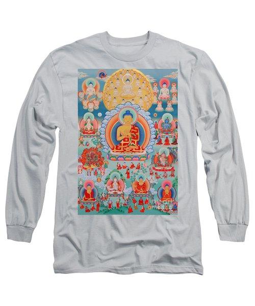 The Twelve Primordial Teachers Of Dzogchen - Tonpa Chu Ni Long Sleeve T-Shirt