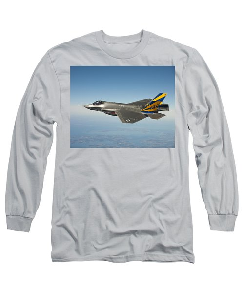 The U.s. Navy Variant Of The F-35 Joint Strike Fighter, The F-35c Long Sleeve T-Shirt