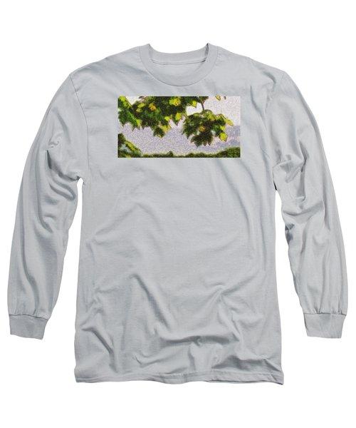 The Vibrating Sky Beyond Long Sleeve T-Shirt by Spyder Webb