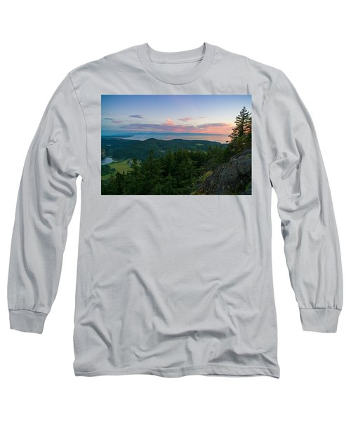 The View From Mt Erie Long Sleeve T-Shirt by Ken Stanback